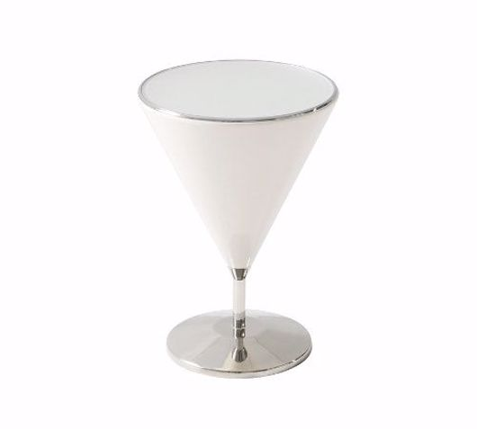 Picture of 'QUARTZ' MIXOLOGY (STAINLESS STEEL, SMALL) ACCENT TABLE