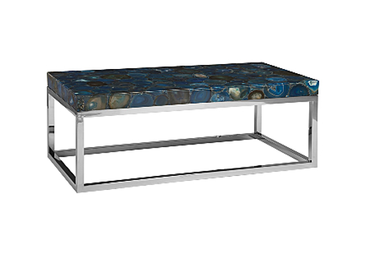 Picture of AGATE COFFEE TABLE STAINLESS STEEL BASE
