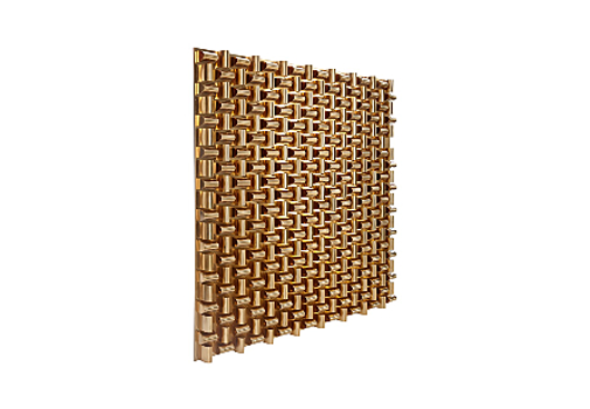Picture of ARETE WALL ART SQUARE, PLATED BRASS FINISH