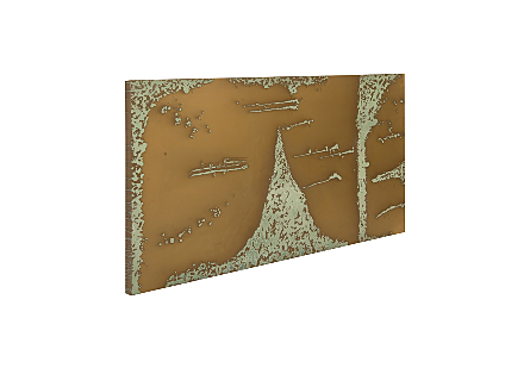 Picture of ABSTRACT COPPER PATINA WALL ART LG